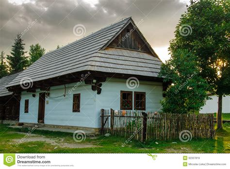 Folk House by Authentic Folk House In A Museum Of Slovak Traditions