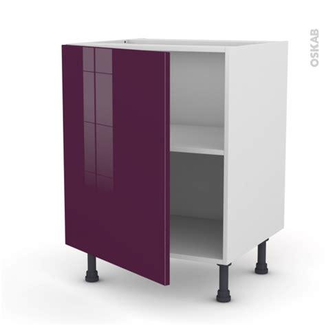 meuble de cuisine aubergine meuble de cuisine bas keria aubergine 1 porte l60 x h70 x