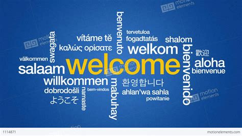 language th welcome in different languages stock animation 1114871