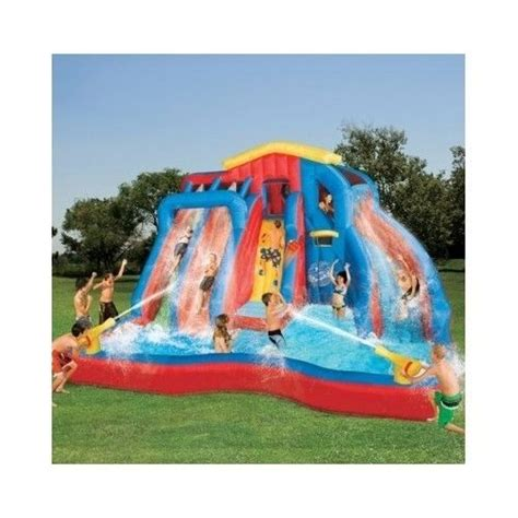kids backyard pool water slide inflatable outdoor toys structures bouncer