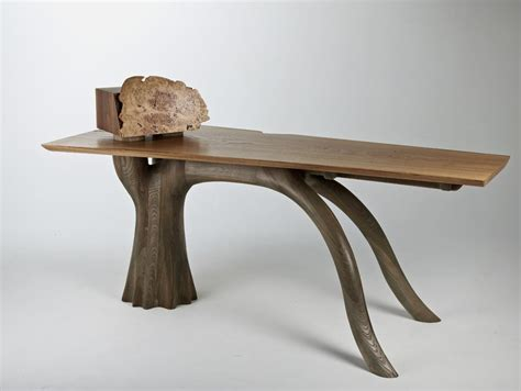 Wooden Chair Designs by Unique Desk Inspired By Evergreen Oak Trees Stumpy Desk