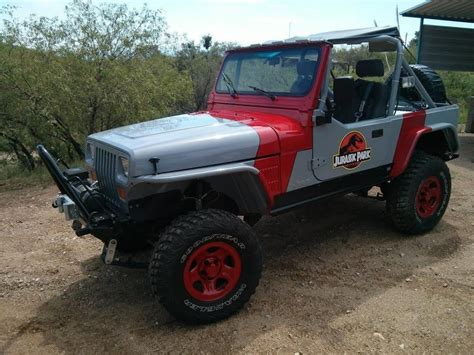 jeep buggy for sale 1989 jeep wrangler jurassic park edition rock crawler yj