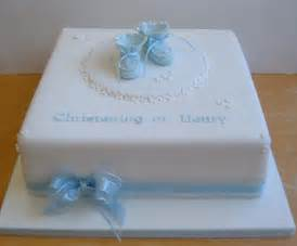 Blue booties christening cake ideas and designs