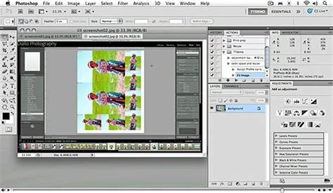 photoshop cs5 actions tutorial recording a simple action free advanced photoshop cs5