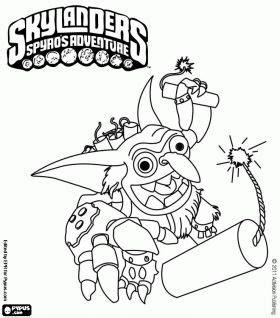 skylander birthday coloring page pinterest the world s catalog of ideas