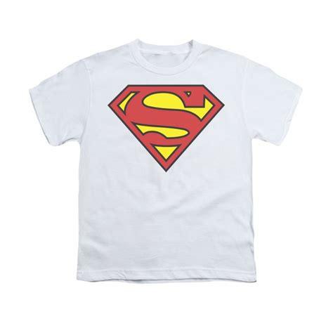 Tshirt Supermen White superman shirt basic logo white t shirt superman