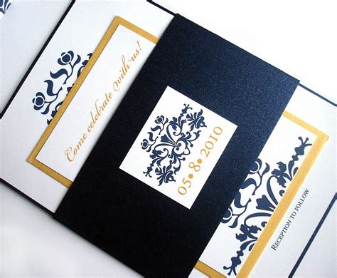 Wedding Invitations Navy And Gold by Navy And Gold Wedding Invitation Navy Blue Wedding Invitation