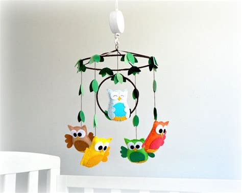 musical owl mobile nursery baby crib mobile woodland