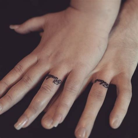 wedding ring name tattoo designs 25 best ideas about spouse tattoos on married