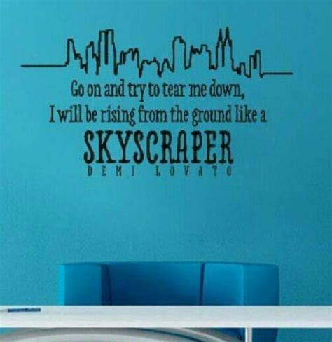 in your bedroom lyrics skyscraper lyrics wall decal quotes lyrics