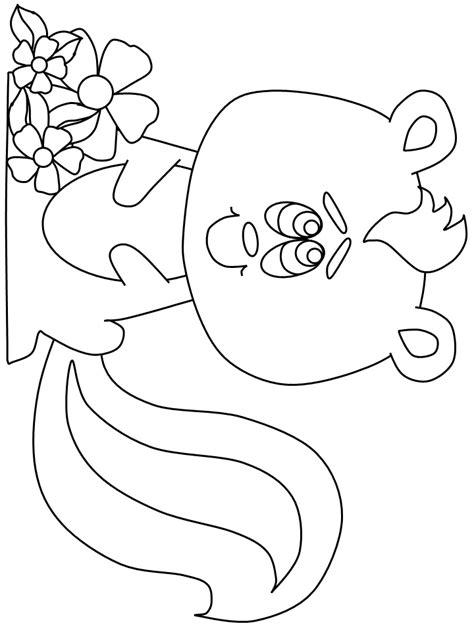 coloring book page of a skunk skunks 4 animals coloring pages coloring book