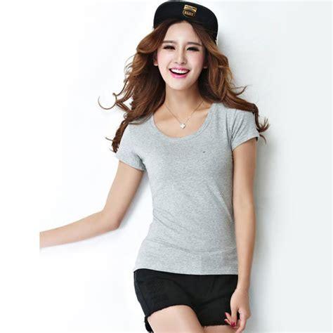 Blouse Pendek Kaos Wanita Grey T Shirt Top Simply kaos polos katun wanita o neck size l 86101 t shirt