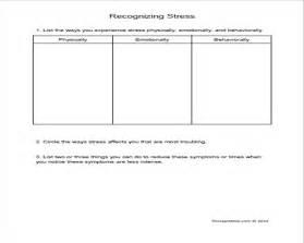 7 best images of stress worksheets printable stress