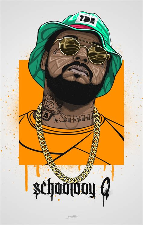 Schoolboy Q Drawing by Schoolboy Q Illustration All Hip Hop