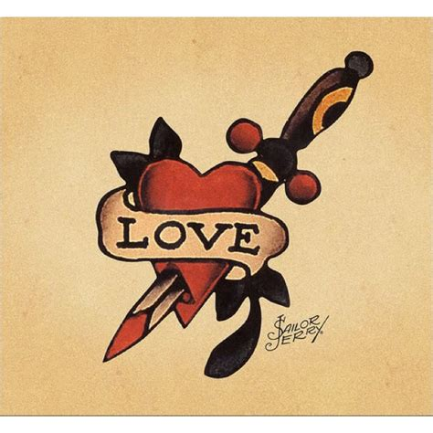 sailor jerry heart tattoo designs sailor jerry dagger through tat