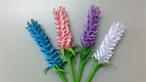 Paper Flowers To Make - how to make lavender paper flower easy origami flowers