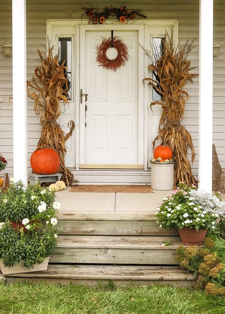pretty front porch decorating ideas  fall style