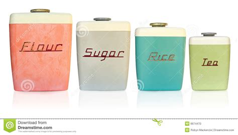 retro kitchen canisters stock photo image of storage