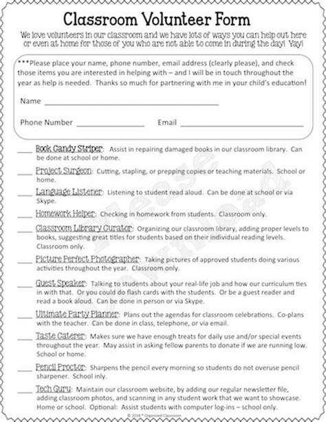 Volunteer Evaluation Letter 25 Best Ideas About Parent Volunteer Form On Parent Volunteer Letter Parent