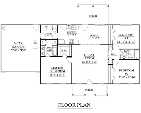 one level living floor plans houseplans biz house plan 1500 b the james b