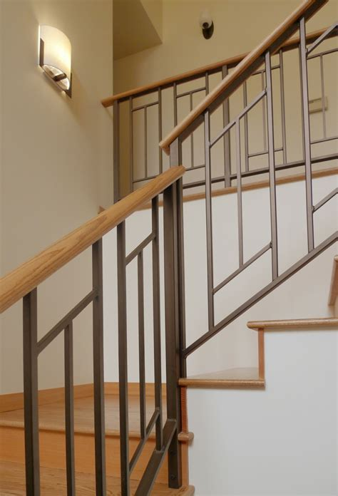 Contemporary Banister Rails furniture simple and sleek contemporary staircase railings with designs from metal and