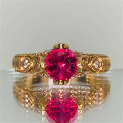 Ruby 6 05ct 1 05ct burma ruby and ring