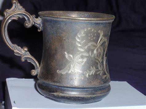 antique victor silver  cup estate find   info