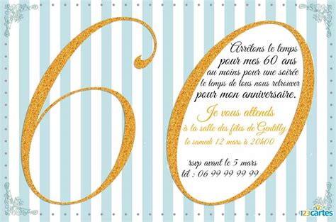 modele invitation anniversaire femme 60 ans document