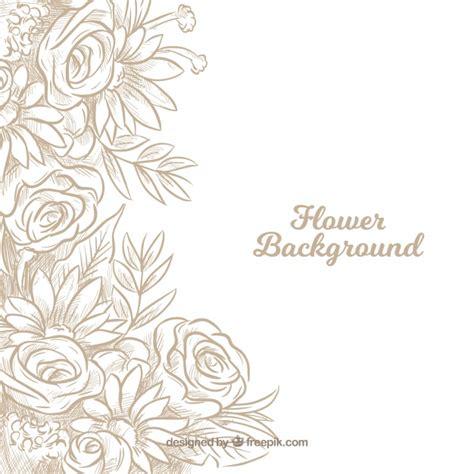 Wallpaper Bunga Shaby 186 fondo floral con rosas dibujadas a mano descargar