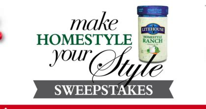 Life Style Sweepstakes - litehouse make homestyle your style sweepstakes sun sweeps