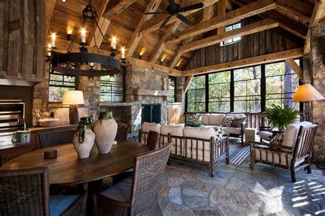 rustic porch spectacular screened in porch designs decorating ideas
