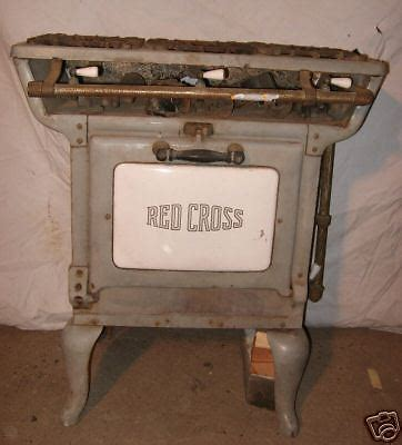Antique Enamel Gas Kitchen Stove Red Cross Ebay Antique Kitchen Stoves For Sale