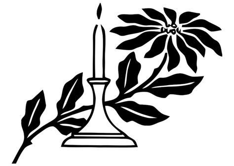 candela natalizia da colorare disegno da colorare candela natalizia cat 20314