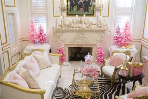 pink and gold living room the land family room part 1 turtle creek