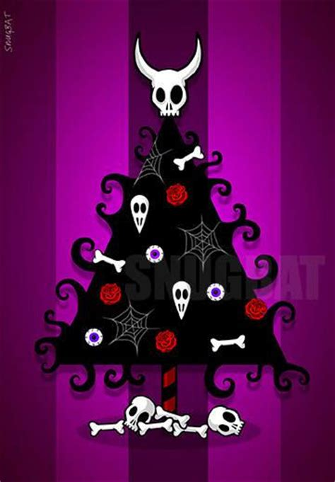 Home Decor Magazines Online Gothic Christmas Tree Greeting Card