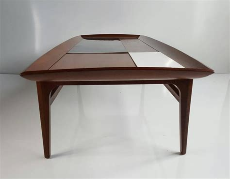 stunning modernist coffee table walnut black and white