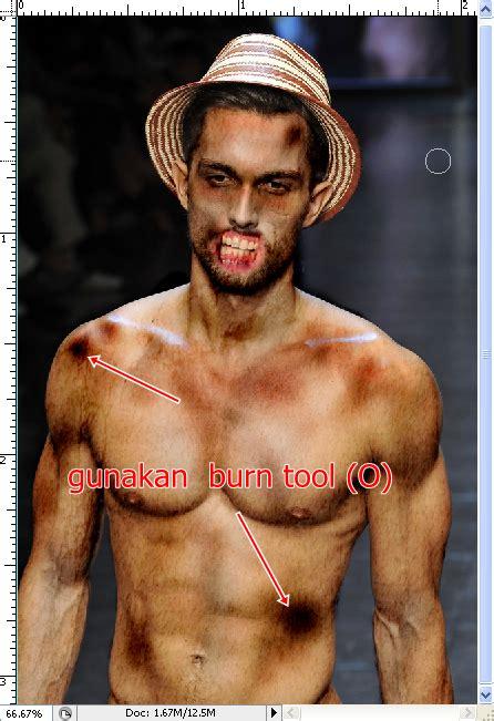 tutorial photoshop efek wajah zombie tutorial photoshop cara membuat efek zombie psd48