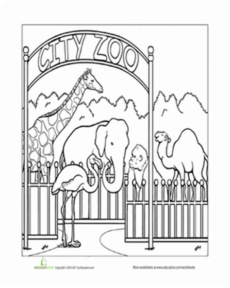 educational coloring pages zoo animals paint the town zoo worksheet education