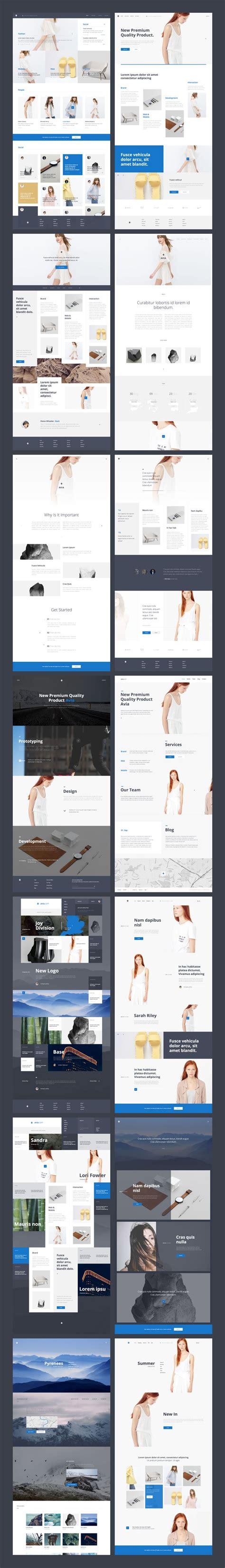 wordpress avia layout avia ui kit digital design pinterest products and ui kit