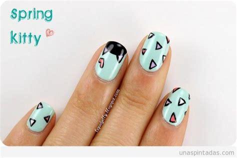 imagenes de uñas pintadas gatos lista 5 dise 241 os de u 241 as pintadas f 225 ciles y bonitos
