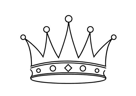 coloring page of a queen s crown king and queen coloring pages clipart panda free