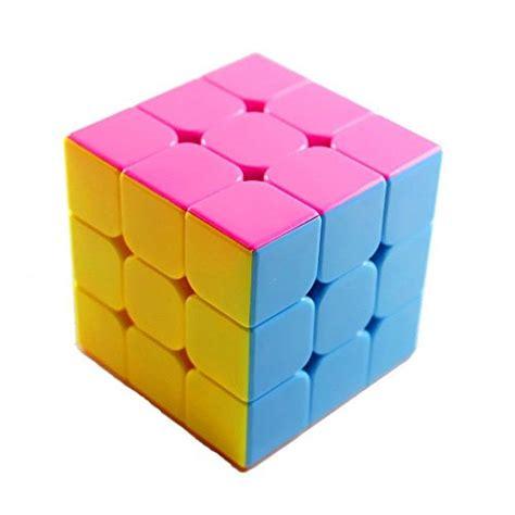 Rubik 3x3 Jocubes Speedcube Stickerless Pink new stickerless cube cyclone 3x3 original magic twist puzzle rubik kid child ebay