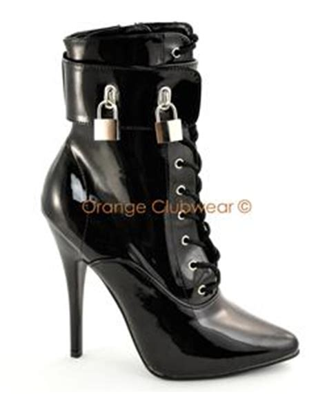 locking high heel shoes pleaser 6 quot high heels locking ankle boots w multi cuffs ebay