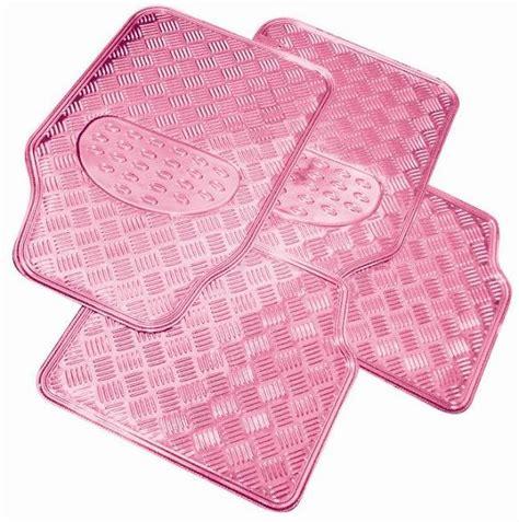 Pink Floor Mats For Cars by Pink Checker Plate Style Rubber Car Floor Mat Mats Set Ebay