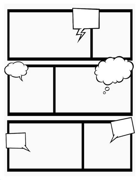 graphic novel template printable make your own comic book with these templates