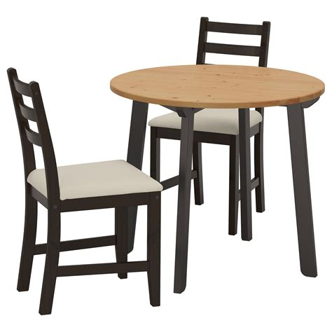 ikea table and bench lerhamn gamlared table and 2 chairs light antique stain