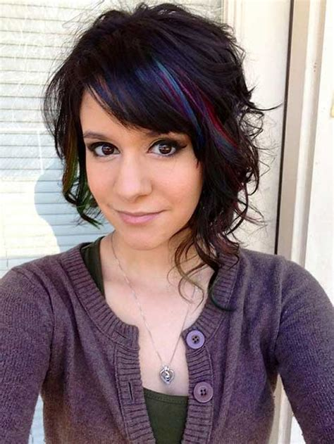 asymeyrical for wavy thick hair 10 good curly asymmetrical bob short hairstyles 2017
