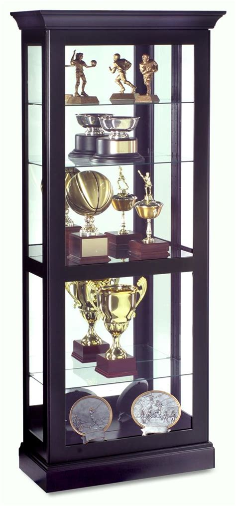 Modern Curio Cabinets by Modern Curio Cabinet Berends Model Black Satin Finish