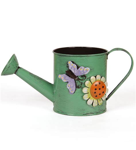 go hooked green watering can planter by go hooked