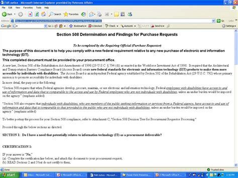 va section 508 ppt department of veterans affairs section 508 program